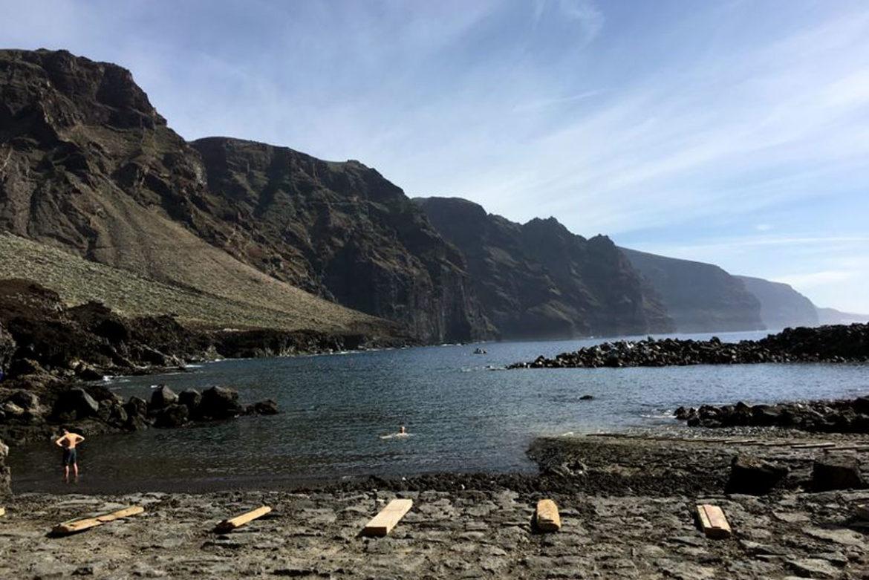 Der Strand La Ballenita am Punta del Teno auf Teneriffa.